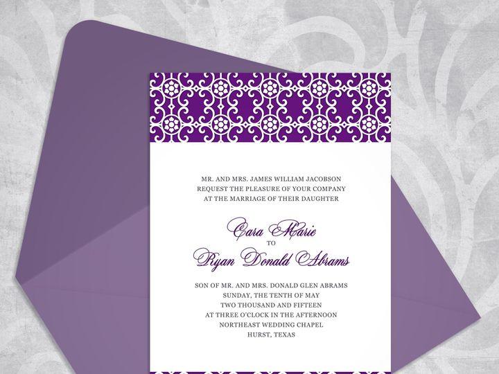 Tmx 1430232732000 Victorianelegancemockupeggplant Bedford wedding invitation