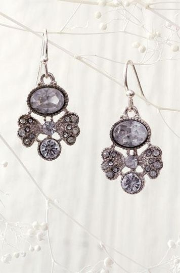 Heirloom Earrings Hand set Czech crystals hang from sterling silver for the perfect holiday...