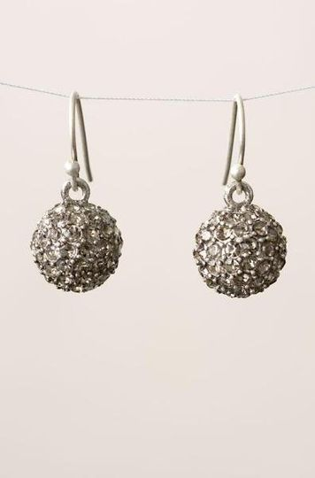 Soiree Earrings Hand set Czech crystals adorn a delicate silver ball. Sterling Silver ear wires....