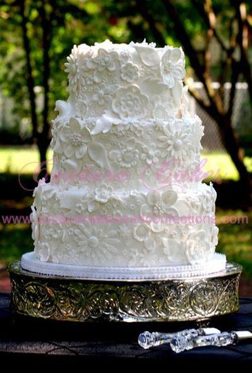 500 Blossoms Wedding Cake