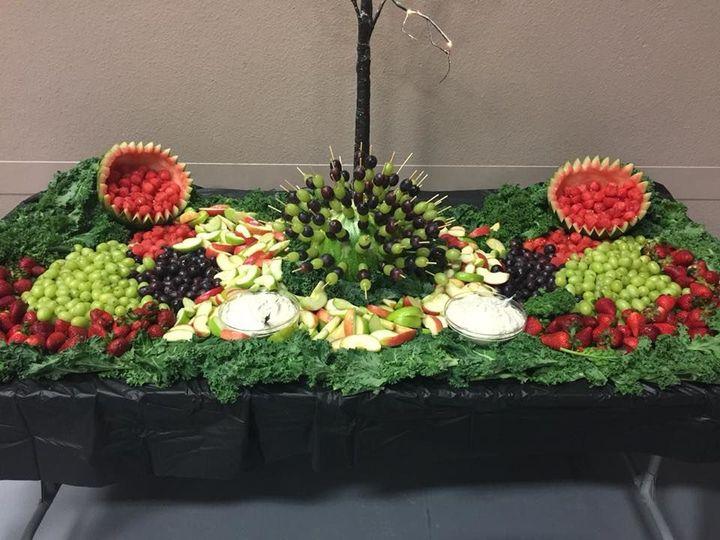 Fruits and salad