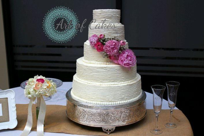 Five tier white cake