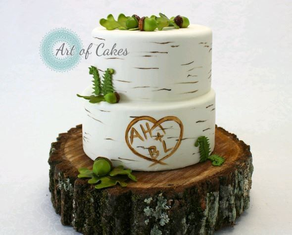 Rustic themed cake