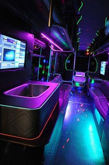 Interior of Unit 101 party bus