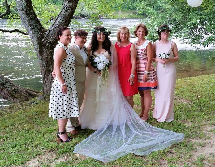 Brides and bridesmades