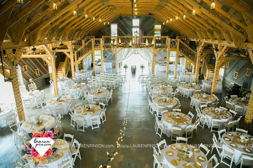 Reception setup in the barn