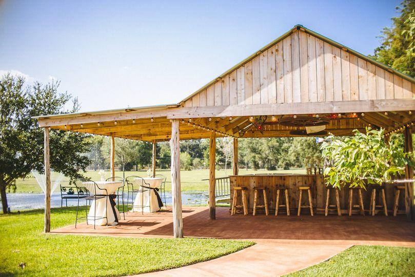 Outdoor bar area