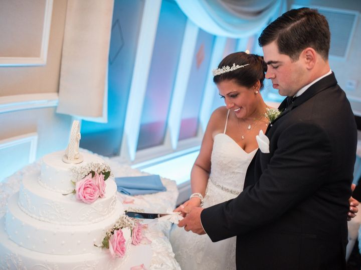Tmx 1474554647499 Laura Parisi And Groom Cutting Cake Orange, Connecticut wedding dress