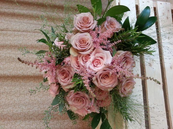 mauve and pink bridal