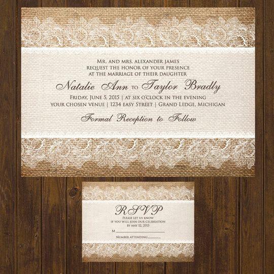 White lace invite