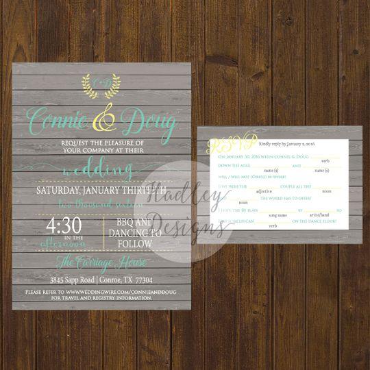Wooden-like invite