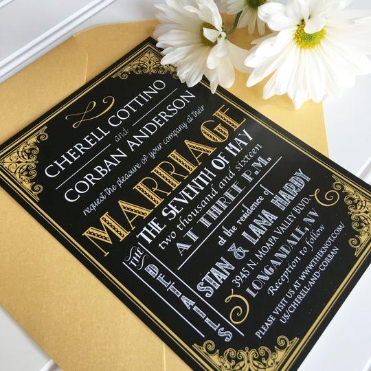 ... Wedding Invitations; 800x800 1452221768372 Modern ...