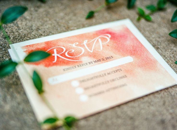 RSVP with watercolor background