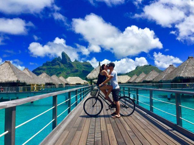 Overwater honeymoon