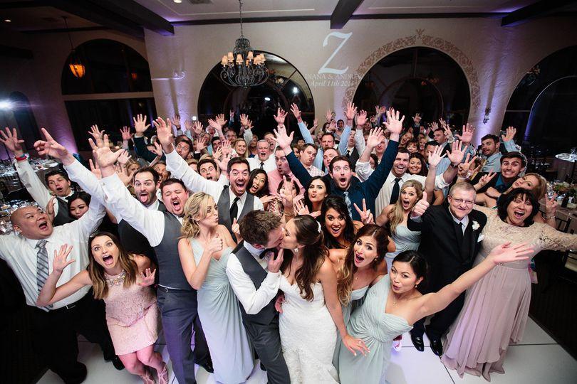 Wedding crowd photo