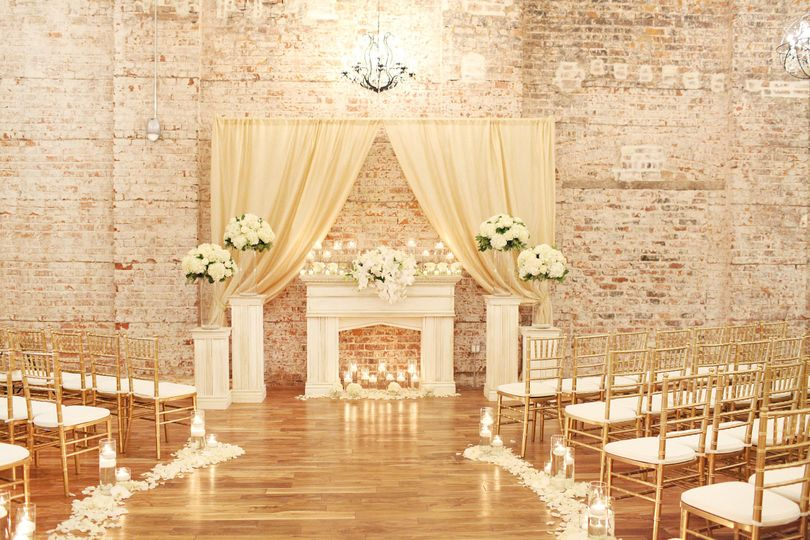 Indoor wedding ceremony area