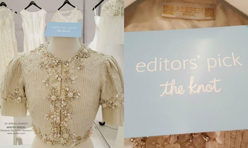Arefeh Bridal Designed By Arefeh Mansouri  The Knot Magazine editors' pick NY Bridal Fashion Week