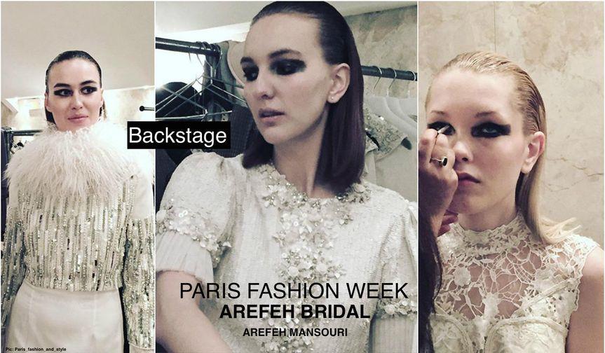 AREFEH BRIDAL Backstage Paris Fashion Week Designer: Arefeh Mansouri