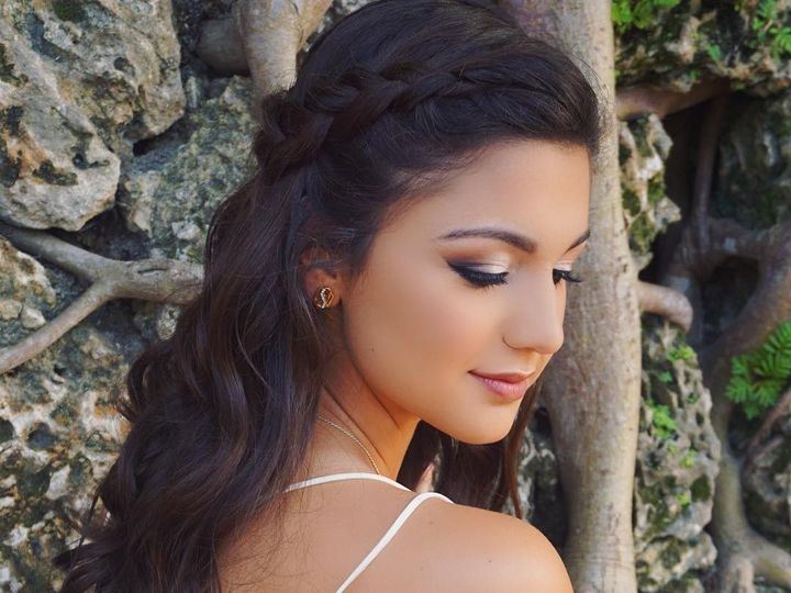 Tmx 1484177559393 Young Brunette Braid Bride  Smithtown, New York wedding beauty