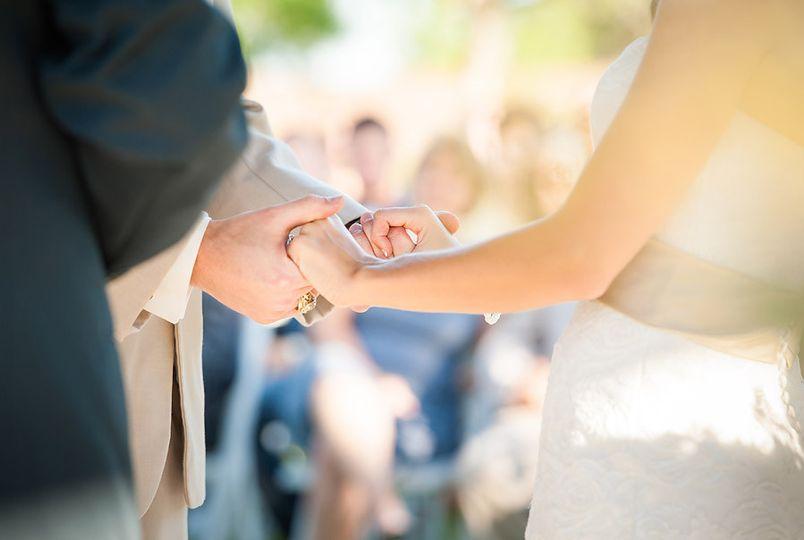 wedding ceremony hands