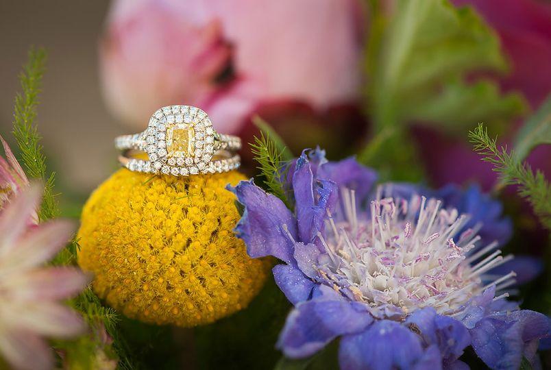yellow diamond macro