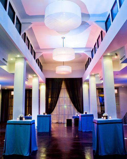 Hallway reception venue