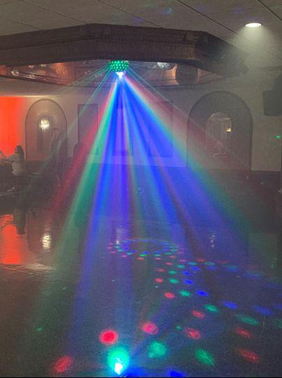 Dancefloor with lights