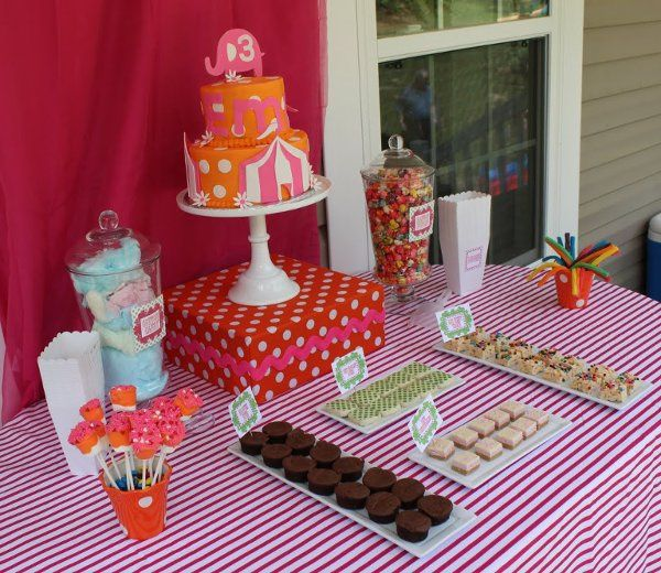 Simple, Fun, Girly Circus Theme