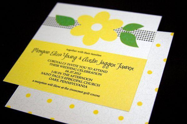 Tmx 1316805214745 MorganAustinYellowDaisy2 Reading wedding invitation