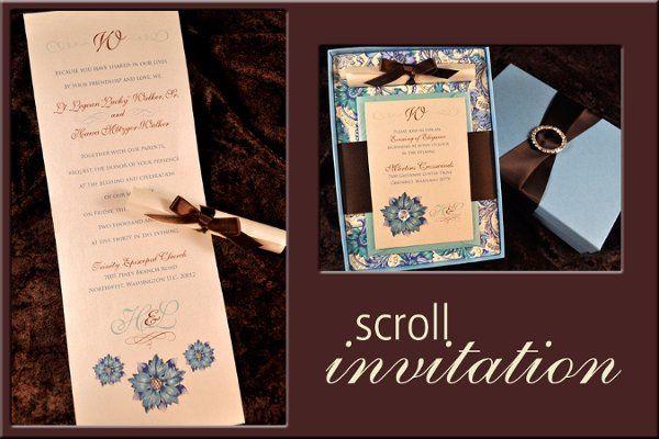 Tmx 1327702310989 Hawascrollframe Reading wedding invitation