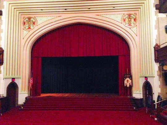 Scottish Rite Cathedral stage