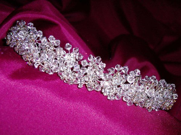 You will look amazing in this Swarovski Crystal and Petite Rhinestone Tiara !