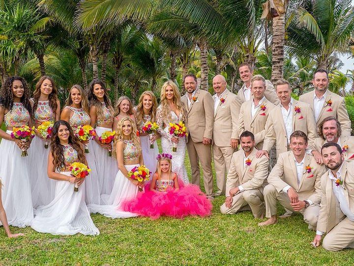 Tmx 1483998482083 Jasonbrittanybridesmaidsanddaughters Nashville, Tennessee wedding dress