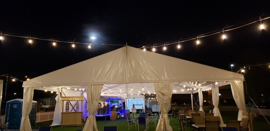 Tented evening event