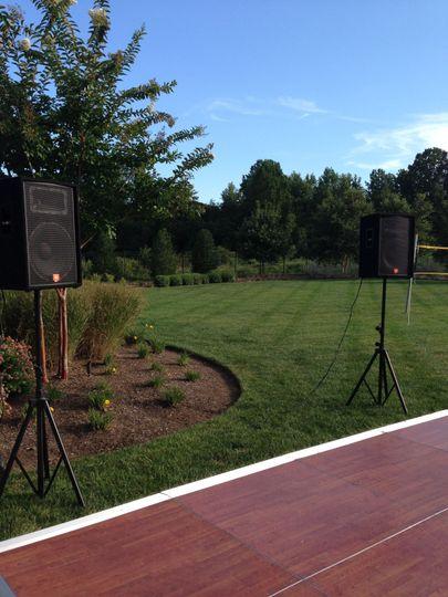 Outdoor wedding gig