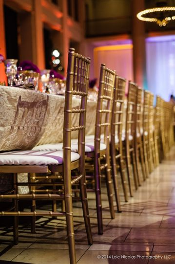 Wedding reception in doors