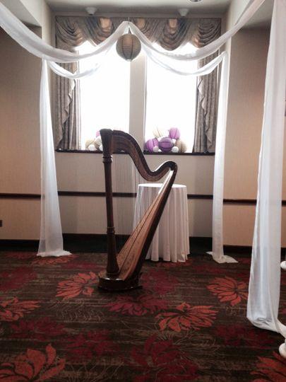 The harp in the venue