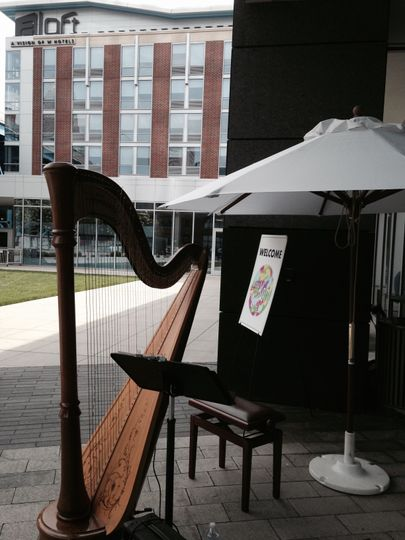 The harp outdoors