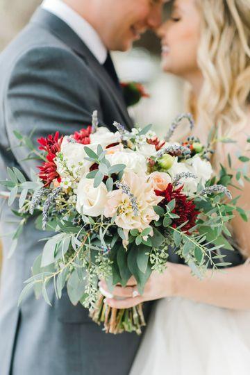 Bridal bouquet with lavender