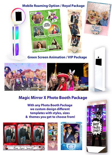 Photo booth options