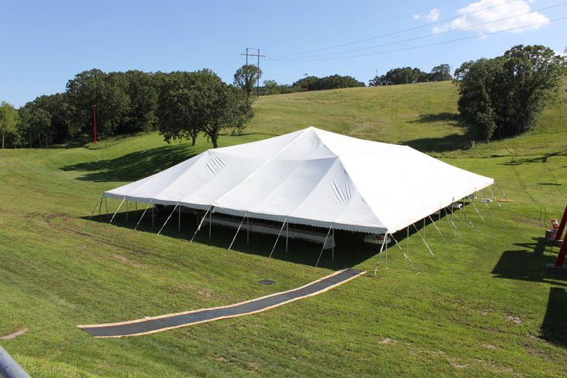 A tent reception