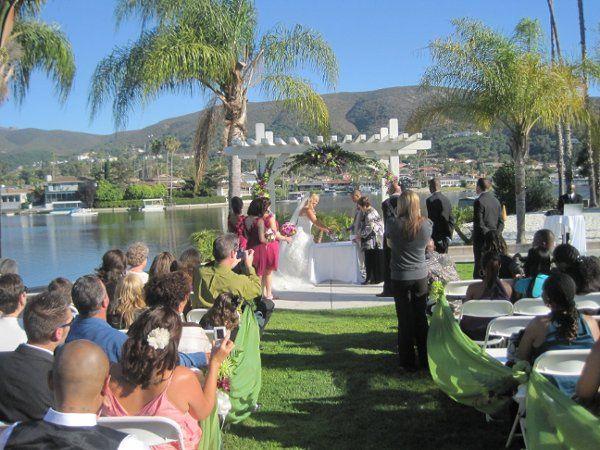 Waterfront wedding