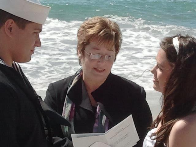 Officiating a beach wedding