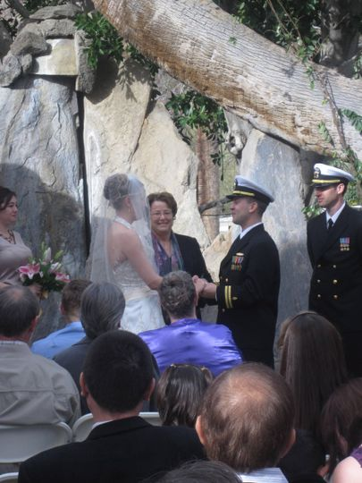 Beautiful, formal and fun were words that described for this seaman and his bride.