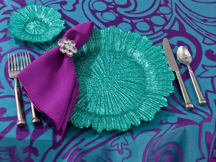 Tmx 1329235318940 SeaSpongeTurquoiseonPlumDahliaOverlay Seattle wedding rental
