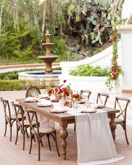 The long rustic table