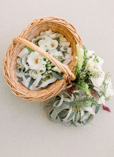 Corsages and basket