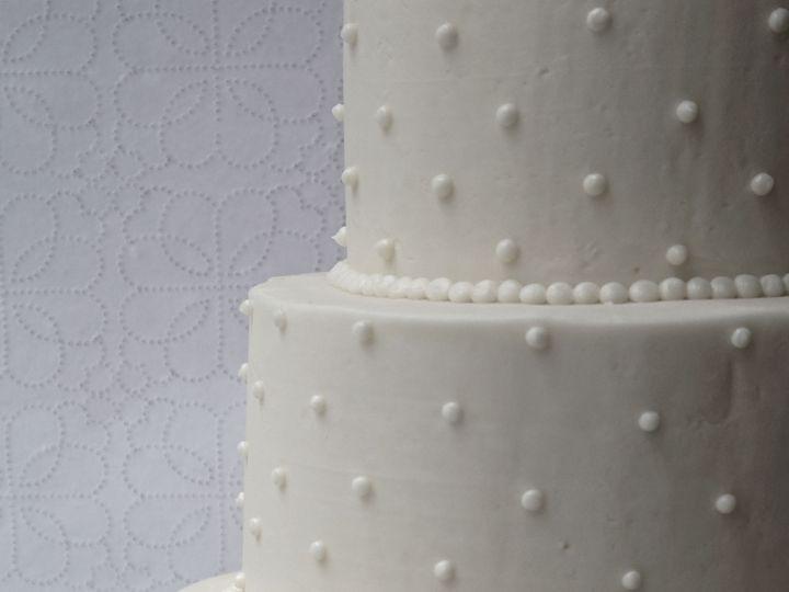 Tmx 1519154804 2cfe3a46efa3f756 1519154802 14055843bd5327ba 1519154794822 4 Swiss Dot Cake  Re Brooklyn wedding cake
