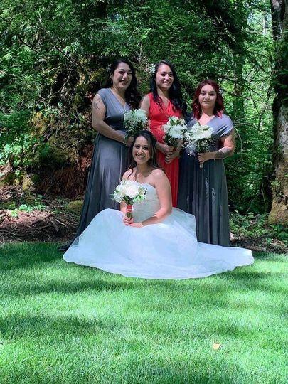 Bride in hollow