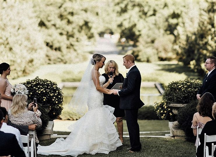 Karen was delighted to officiate this elegant wedding ceremony for Tiffany and Sean.  The East Lawn...